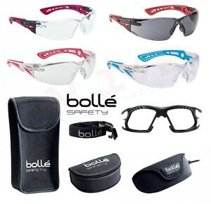 738b818f81f5 Bolle Safety Glasses RUSH+ Clear / Smoke Lens Rush+ Small Blue ...