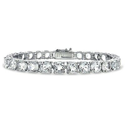 28ct White Topaz Tennis Bracelet