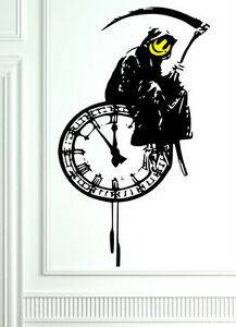 FREE P/&P Best Quality NEW Banksy Graffiti Grim Reaper Death Art Wall Stickers