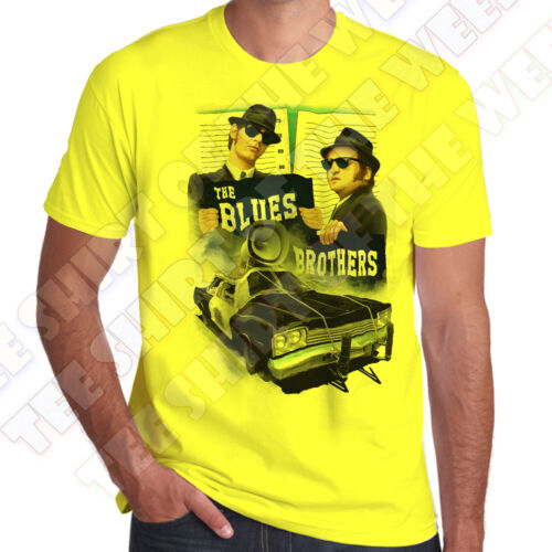 The Blues Brothers Bluesmobile mens T-shirt 100/% Cotton 7 colours to choose
