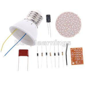 5 pcs new Energy-Saving 38 LEDs Green Lamps DIY Kits Electronic Suite 1 Set