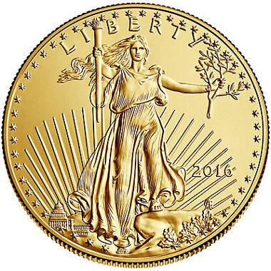 2016 $5 1/10oz American Gold Eagle BU