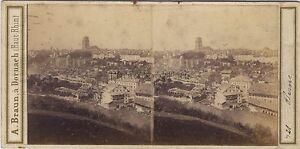 Bern Suisse Foto A. Braun Stereo Vintage Albumina Ca 1860