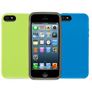 iPhone-5s-Silicone-Coque-Pack-De-3-Griffin-coque-Housse-Peau-pour-5-5s-NEUF