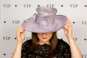 47ad570c Large purple bow wide brim hat by Whiteley Wedding Races Ascot ...