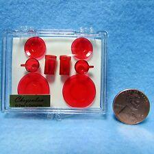 Dollhouse Miniature Chrynsbon Dish /& Cup Place Setting Green CB132G