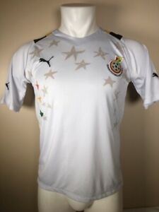 new style c2c02 818d2 Details about 2012-13 Puma Men's Ghana Home Soccer Jersey Size Large Black  Stars
