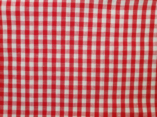Sewing Projects Red checker Crafts Cotton Fabric Scraps Quilting