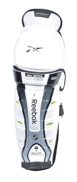 New Reebok NHL Series Silver ice hockey shin pads guards senior sr 14""