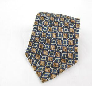VALENTINO Vintage Silk Tie Designer Mens Necktie Blue Striped Wedding Tie For Men Gift For Him Made In Italy