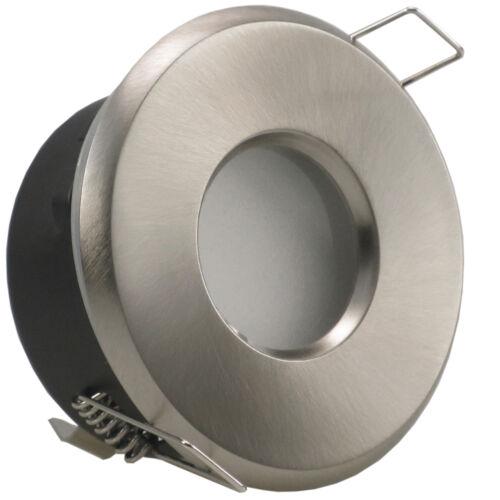 dimmbar MERA65 Einbaustrahler IP65 LED Set Bad Feuchtraum 230V GU10 3W 7W