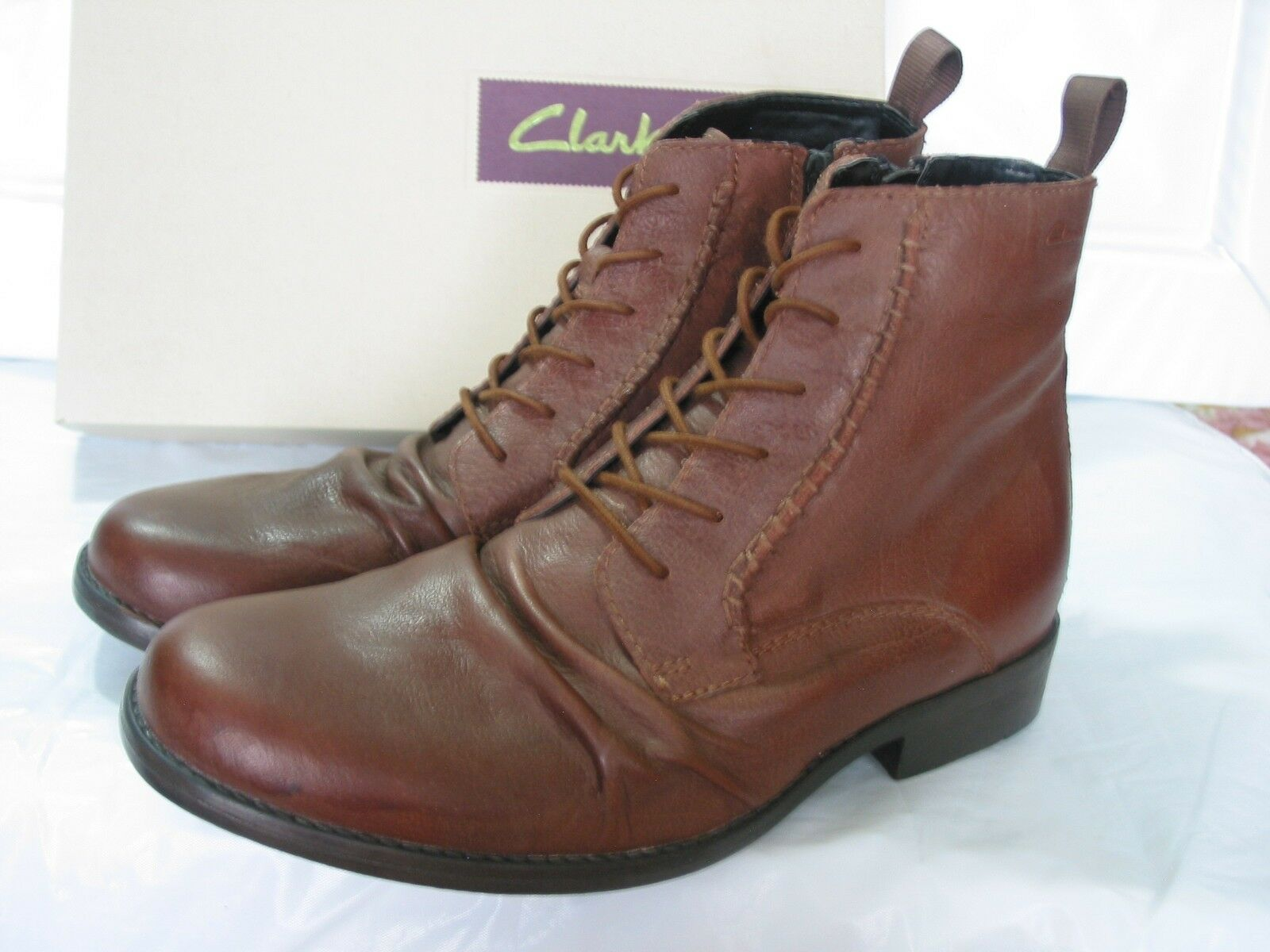 NEW    Herren CLARKS WICKEN RISE  BROWN LEATHER SLOUCH ANKLE Stiefel VARIOUS SIZES 60e1f4