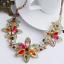 Fashion-Elegant-Women-Bib-Crystal-Pendant-Statement-Chain-Chunky-Choker-Necklace thumbnail 3
