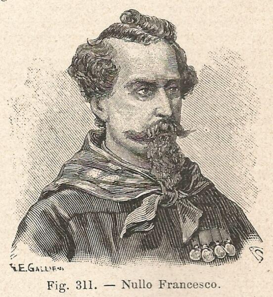 100% Vero B1484 Francesco Nullo - Incisione Antica Del 1928 - Engraving