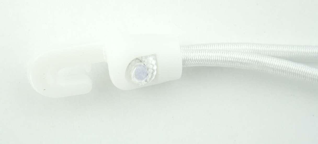 50x MOLLETTE orditura Bianco Bianco Bianco MiniClipDesignTENDITORE  Supporto  25cm x Ø 4cm GOMMA orditura a22f8b