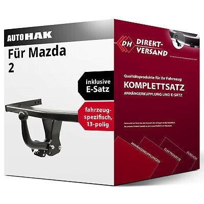 Anhängerkupplung starr Mazda 2 DY EBA Auto Hak E-Satz 13pol spezifisch inkl
