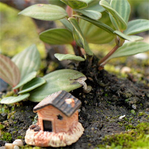 3Pcs Micro Landscape Decoration Small Houses Handicraft Gift Garden Ornaments ZY