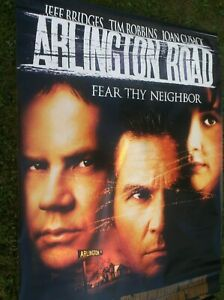 ARLINGTON ROAD(1999)JEFF BRIDGES ORIGINAL 4'BY6' DOUBLE SIDED BANNER RARE!