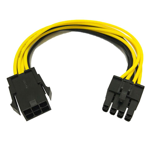 EG/_ 6-Pin to 8-Pin PCI-E Power Converter Extension Cable for Video Card Graphics