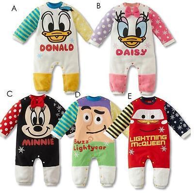 New Baby Boys Girls Pajama donald disney McQueen Frozen Micky Cars size 0 1 2