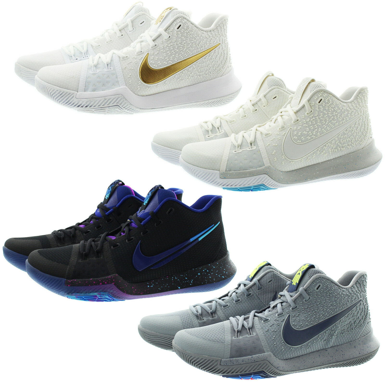 Nike 852395 Mens Zoom Kyrie 3 Mid Top Basketball Athletic shoes Sneakers