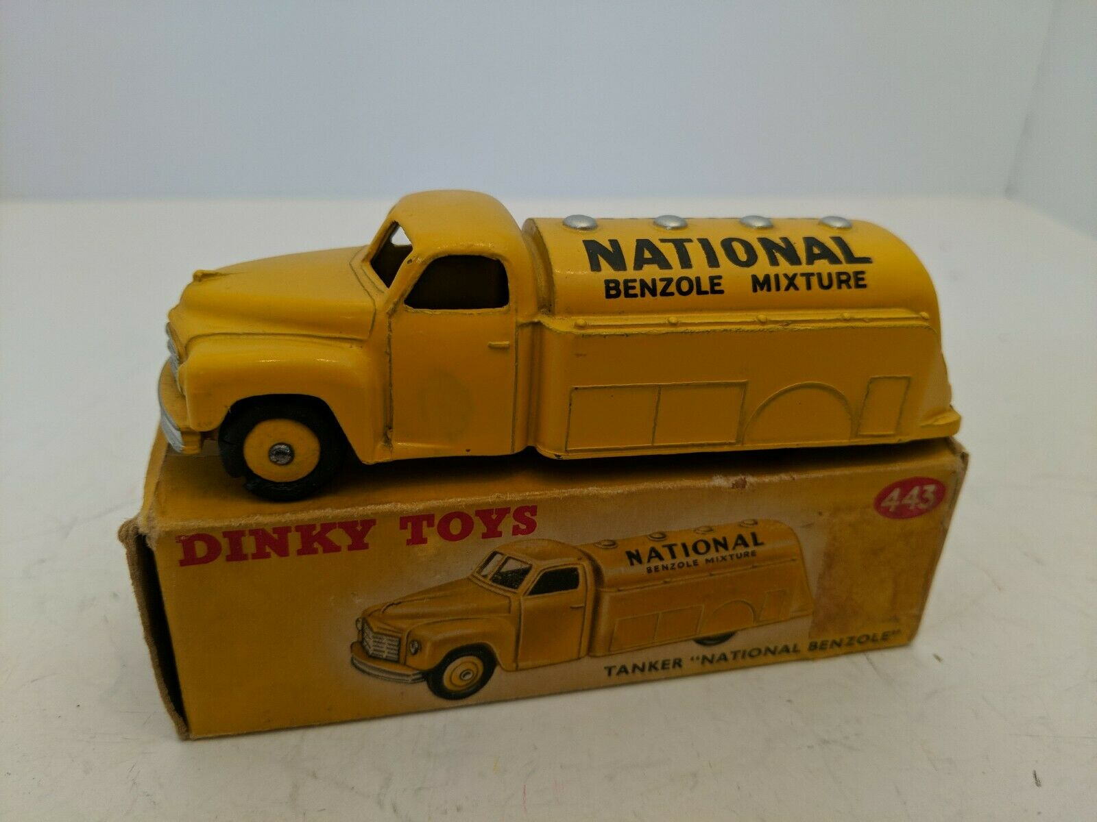 Dinky Toys 443 Studebaker Tanker National Benzole Mixture with box Pristine Mint
