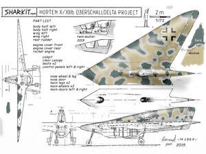 HORTEN-X13b-Twin-seater-Sharkit-resin-1-72