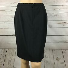 Max Mara Pencil Skirt Womens Size 12 Virgin Wool Black Career Stretch