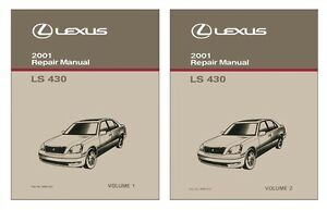 2001 lexus ls 430 shop service repair manual book engine drivetrain rh ebay com 2005 lexus ls430 service manual 2002 lexus ls430 service manual