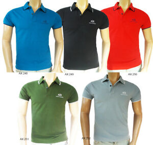 NWT-Armani-Exchange-AX-Polo-T-Shirt-Tee-Short-Sleeve-100-Cotton-Size-S-M-L-XL-X