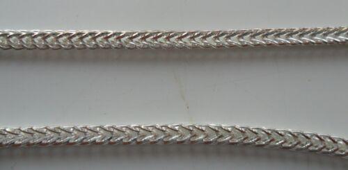 1 Metre x Silver Plated Iron Side Twist Chain 2x2x2mm