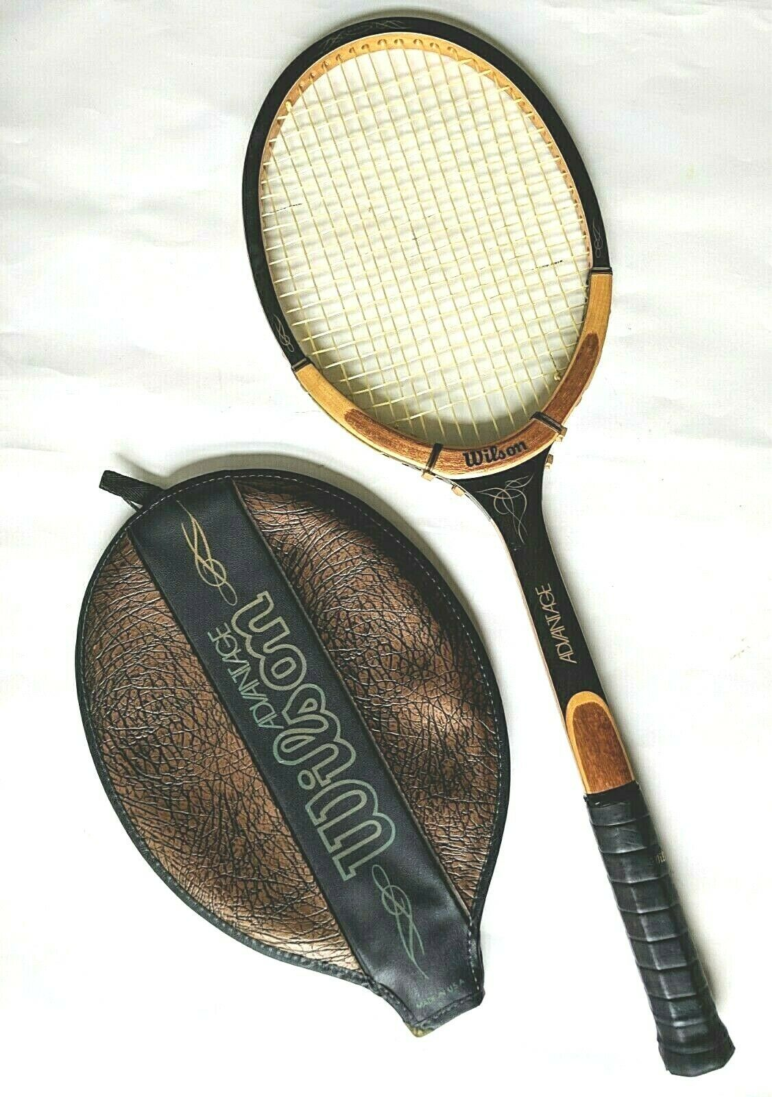 Vintage Wilson Advantage Strata Bow Tennis Racquet DX Medium 4 5 8
