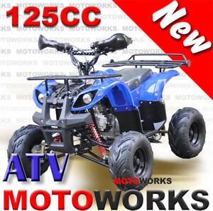 MOTOWORKS-125CC-Farm-ATV-QUAD-Bike-Dirt-Gokart-4-Wheeler-Buggy-trail-blue