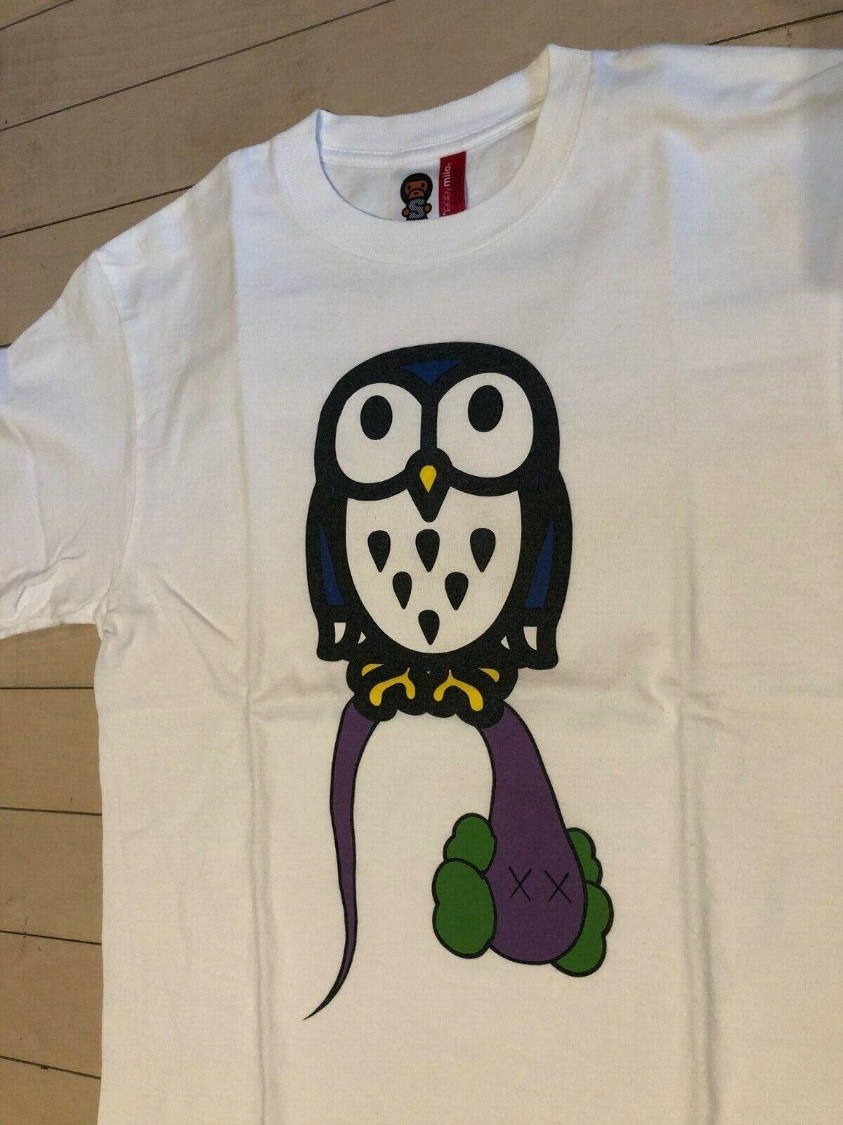 677ddd8be264f A Bape x Kaws x Baby Milo Owl OVO T-Shirt Tee size S small Bathing Ape  nnshar7896-T-Shirts