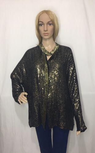 oro ricamata nero con M Rrp119 Giacca Zara taglia paillettes ARLj453