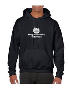 Adult Hoodie Black Hooded Sweatshirt It/'s a JEEP Thing
