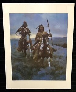 Howard-Terpning-Blackfoot-Raiders-Limited-Edition-print-Native-American-350