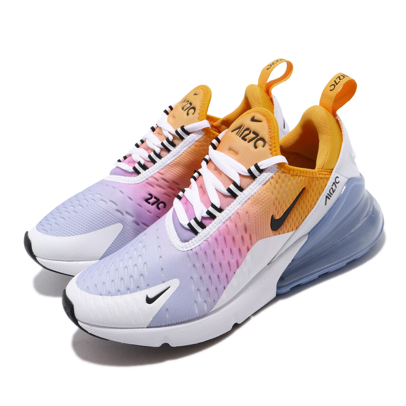 Nike Wmns Air Max 270 gold  bluee Pink Gradient Womens Running shoes AH6789-702  in stock
