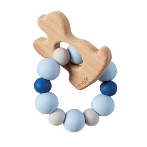 Mud Pie E9 Baby Natural Wood /& Silicone Teether BPA Free 12600037 Choose