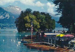 alte-AK-Annecy-Ile-des-Cygnes-Frankreich-1971-gelaufen-Ansichtskarte-B163a