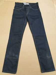 E345-MENS-LEVI-039-S-STRAUSS-511-BLUE-SLIM-STRAIGHT-COATED-DENIM-JEANS-W30-L32-BNWT