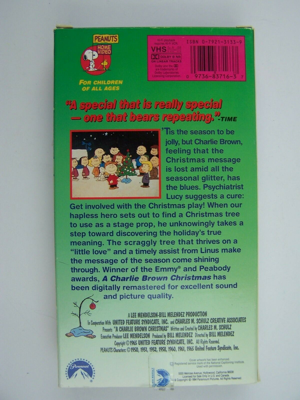 A Charlie Brown Christmas VHS 97368371637