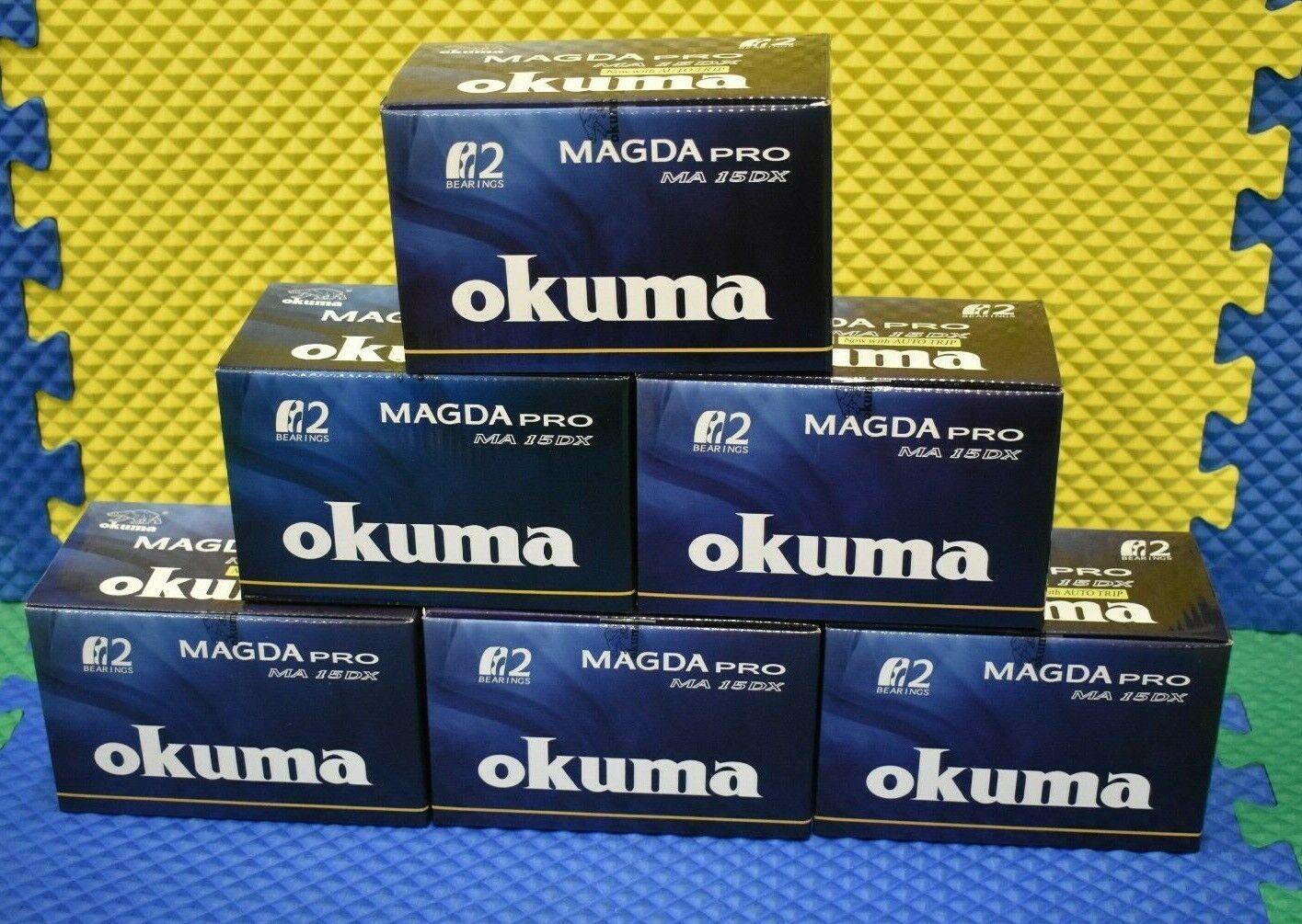 Okuma Magda Pro Line Contador Trolling Cocherete Con Auto Viaje MA15DX 6 Pack
