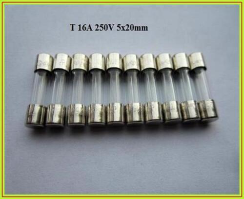 FST sauvegarde glassicherung t 16a 250v indolent 5x20mm feinsicherung fuse 10 pièce