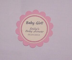 "Baby shower gift tag's ""It's a girl"", Pink, cream. Pack-20,50,100"