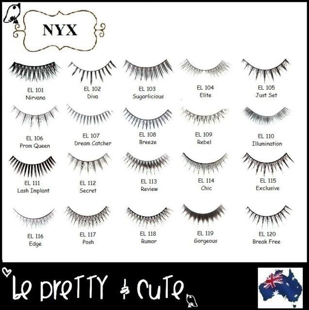 7464658abfa NYX Cosmetics Fabulous Eyelashes Type El107 for sale online   eBay