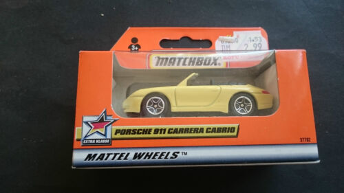 MATCHBOX PORSCHE 911 CARRERA CABRIO GELB OVP MINT