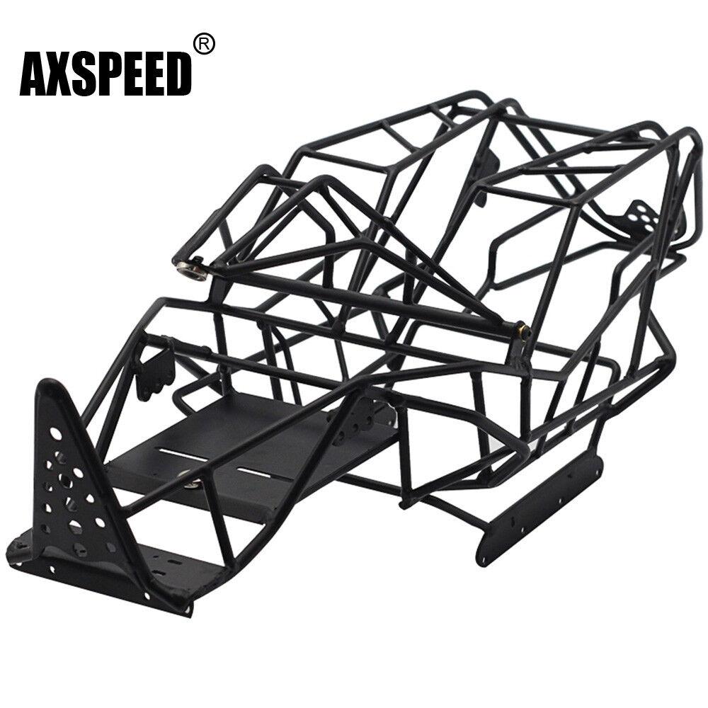Metallo sull'acciaio Roll gabbia Roll Cage per 1:10 RC Crawler assiale Wraith ax90018