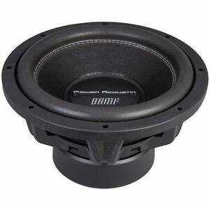 "NEW BAMF124 Power Acoustik 12/"" Woofer Dual 4 Ohm 3500W Max"