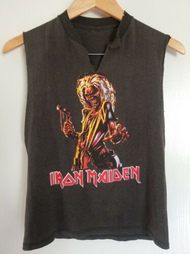 Vintage 80s Iron Maiden Small T-shirt Killers Wor… - image 1